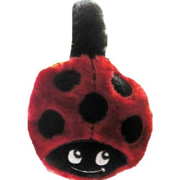 Salmolux Gourmet Seafood Ladybug Ear Muffs Red and Black Lady Bug Plush Autumn Winter
