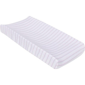 Miracle Blanket Stripes Changing Pad Cover Color: Pink / Gray