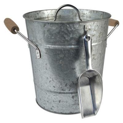 Artland Oasis Ice Bucket with Scoop - Silver (2 Gallon)
