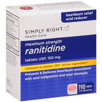 Members Mark Simply Right Ranitidine , Acid Reducer 150 Mg 190 Tablet Count - Compare to Zantac 150