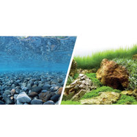 MarinaA Reversible Precut River Rock & Sea of Green Aquarium Background