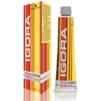 Schwarzkopf Igora Viviance 7-75 Medium Copper Gold Blonde Demi Permanent Hair Color 2.1 fl. oz. (60 g)
