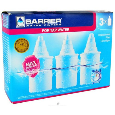 Barrier Water Filters - Water Pitcher Filter Replacement - 3 Pack