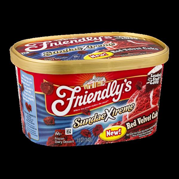 Friendly's SundaeXtreme Red Velvet Cake Frozen Dairy Dessert
