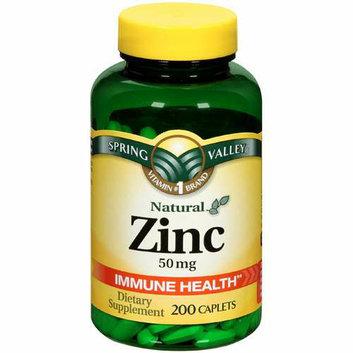 Spring Valley Zinc 50 Mg 200Ct  Natural Zinc Immune Health Dietary Supplement 200