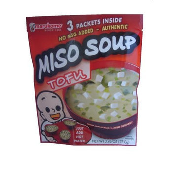 Marukome Miso Instant Tofu, 1.01-Ounce Packages (Pack of 12)