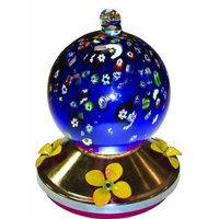 World Source Partners Gardman BA05719 Ball Glass Hummingbird Feeder with Metal Base, Blue