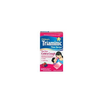 Triaminic Daytime Cold and Cough Relief Thin Strips for Children, Wild Berry Flavor - 14 ea