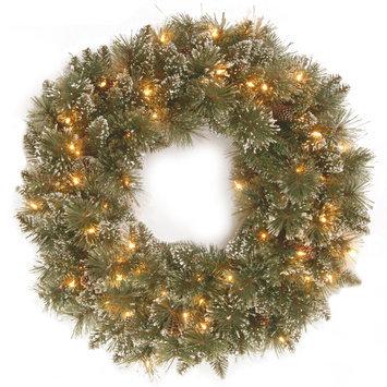 Glittery Bristle Pine Wreath