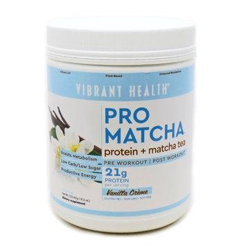 Pro Matcha Vanilla Protein Vibrant Health 18.5 oz Powder
