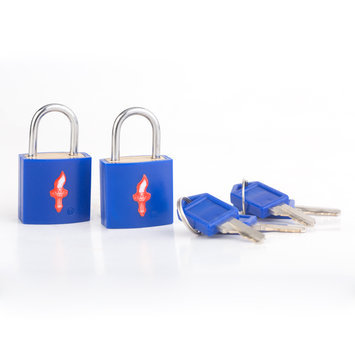 Safe Skies Locks Safe Skies 85a Neon TSA Padlocks 2P Neon Blue