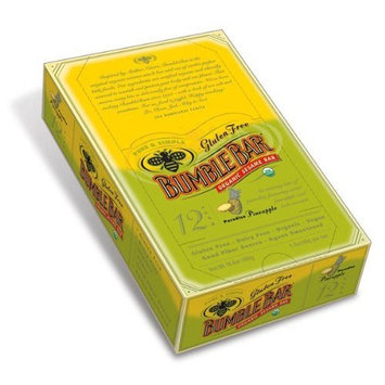 Bumble Bar BumbleBar Gluten Free Organic Energy Pineapple Paradise, 1.4 Ounce Bars (Pack of 12)
