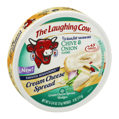 The Laughing Cow Cream Cheese Spread Chive & Onion - 8 CT