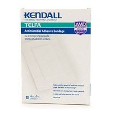 Kendall Telfa AMD Antimicrobial Adhesive Bandage, 4in. x 5in. 10 ea