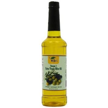 Oskri Organics Oskri Omega 3, Extra Virgin Olive Oil, 25.5-Ounce Bottles (Pack of 12)