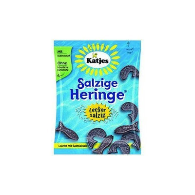 Katjes Salty Licorice Fish, 2.65-Ounce (Pack of 30)