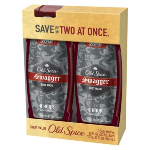 Old Spice Spice Red Zone Swagger Scent Men's Body Wash, 16 fl oz, 2 count