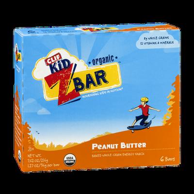 Clif Kid Peanut Butter Z Bar Organic - 6 CT