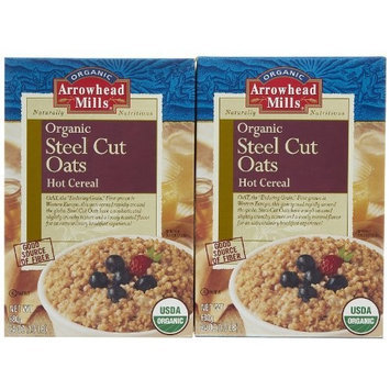 Arrowhead Mills Organic Steel Cut Oats Hot Cereal -- 24 oz