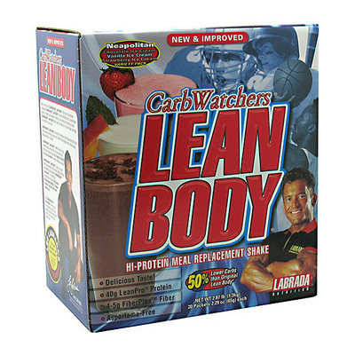 CarbWatchers Lean Body Neapolitan Hi-Protein Meal Replacement Shake Powder