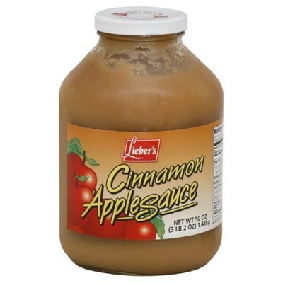 Liebers Apple Sauce, Cinnamon, 50-Ounce (Pack of 3)