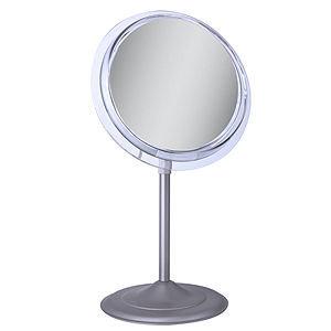 Zadro Surround Light Satin Nickel Lighted Flourescent Single Sided Make Up Mirror