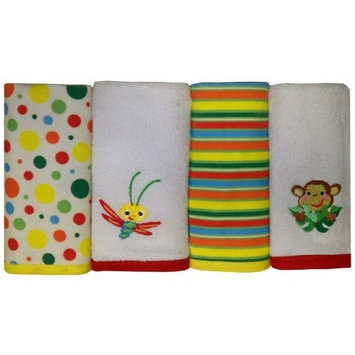 Fisher-Price Rainforest Washcloth 4-Pack (Discontinued by Manufacturer)