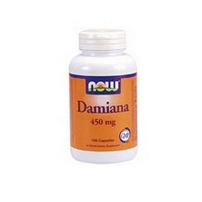 NOW Foods Damiana Herbal Supplement, 100 Capsules, 450mg (Pack of 3)
