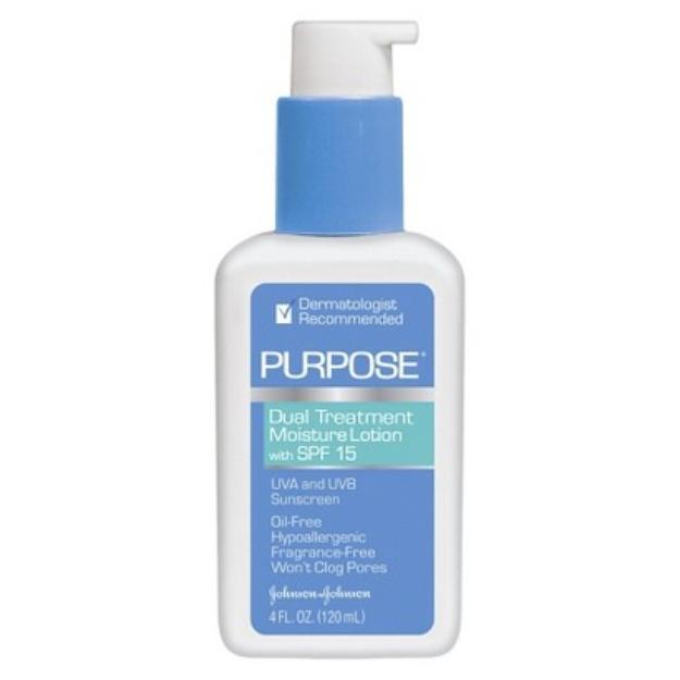 Purpose Dual Treatment Moisture Lotion SPF 15 Sunscreen