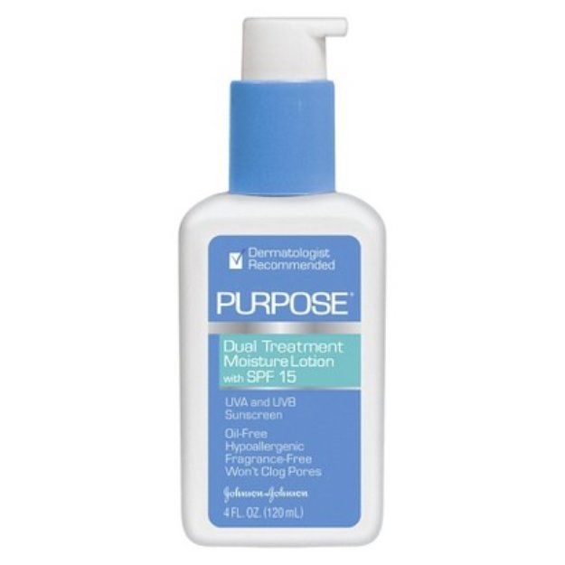 Purpose Dual Treatment Moisture Lotion SPF 15 Sunscreen