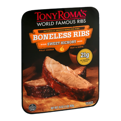 Tony Roma's Fully Cooked Boneless Ribs in Sweet Hickory Sauce