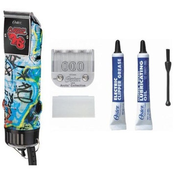 Oster Professional 76076-127 Single Speed Clipper, Grafiti Style
