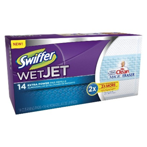 Swiffer WetJet Pads with Power of Mr. Clean Magic Eraser