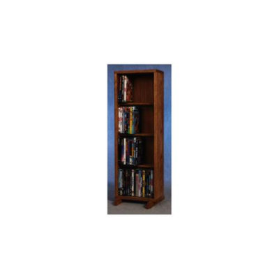 Wood Shed 12.25 in. 4 Row Dowel DVD Tower (Clear)