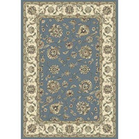 101174 - 5'3 x 7'7 Oval - Rug Depot Traditional Area Rug - Royal Garden Collection - Light Blue Background - Machine-Made of 100% Polypropelene Fibers - 1 Million Point Density - T-7 Quality Rating - Oval Rugs with Matching Stair Runners, Stair Treads, Hall Runners, Area Rugs and Round Rugs [5'3 x 7'7 Oval]