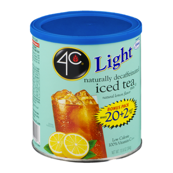 4C Light Decaffeinated Iced Tea Mix Natural Lemon Flavor