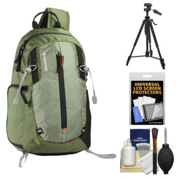 Vanguard Kinray Lite 32 Digital SLR Camera Sling Bag (Green) with Tripod + Cleaning Kit