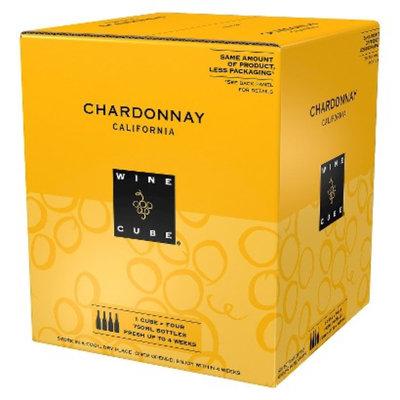 Wine Cube Chardonnay California Wine 750 ml, 4 pk