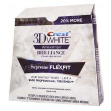 PG 3D Crest White Brilliance Whitestripes Supreme Flexfit 34 strips: 17 Treatments (each with 1 upper/1 lower)