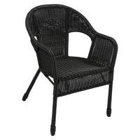 International Caravan Chelsea 3-Piece Wicker Patio Bistro Furniture Set - Antique Black