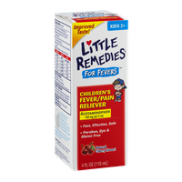 Little Remedies For Fevers Children's Fever/Pain Reliever Kids 2+ Natural Cherry Flavor