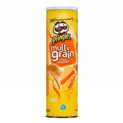 Pringles® Super Stack Multigrain, Cheesy Cheddar  Potato Crisps