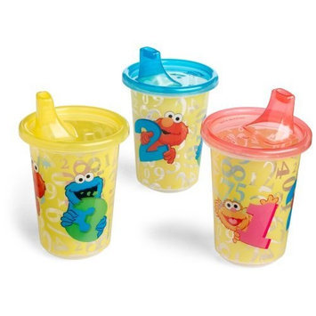 The First Years Sesame Street 3 Pack Sippy Cup, Colors May Vary (Discontinued by Manufacturer)