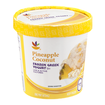 Ahold Frozen Greek Yogurt Pineapple Coconut