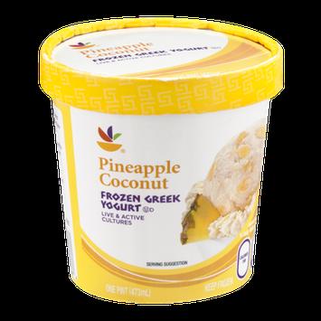 Ahold Frozen Greek Yogurt Pineapple Coconut