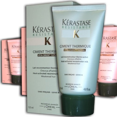 Kerastase Resistance Ciment Thermique Reconstructor, Milk for Brittle, Damaged Hair, 4.8 Ounce