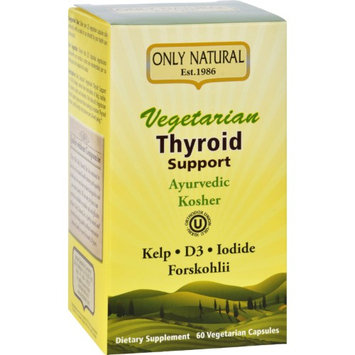 Only Natural - Vegetarian Thyroid Support - 60 Vegetarian Capsules