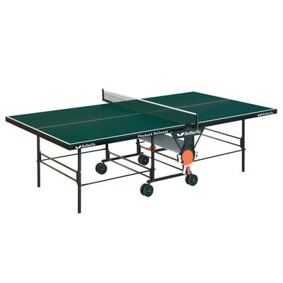 Table Tennis Zone Green Butterfly TR26 Playback Rollaway Table Tennis Table (Green)