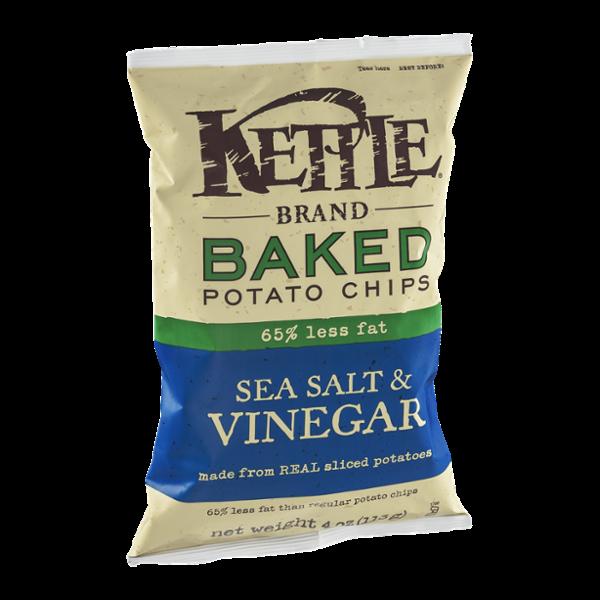Kettle Brand® Baked Potato Chips 65% Less Fat Sea Salt & Vinegar