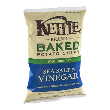 Kettle Brand Baked Potato Chips 65% Less Fat Sea Salt & Vinegar